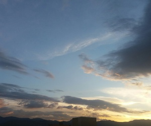 cielo, atardecer, and nubes image