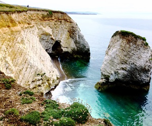 beach, isle of wight, and coves image