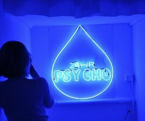 blue, Psycho, and alternative image