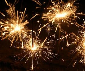 light, sparkler, and fireworks image