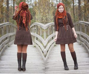 dreads, dress, and septum image