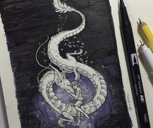 anime, art, and dragon image