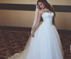 bride, marriage, and beauty image