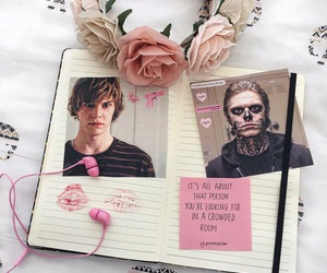 ahs, flowers, and notebook image