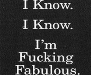 fabulous, funny, and quote image
