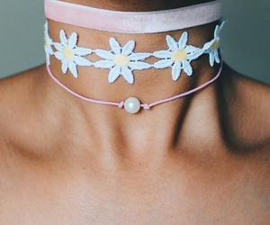 pearl choker necklace, pink choker necklace, and velvet choker necklace image