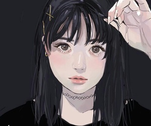 anime, drawing, and girl image