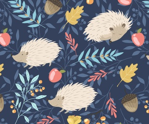 background, hedgehogs, and pattern image