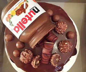 nutella, chocolate, and cake image