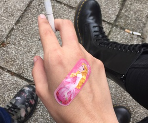 cigarette, kawaii, and pale image