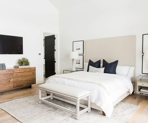 white, art, and bedroom image