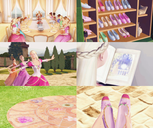 barbie, barbie movie, and 12 dancing princesses image