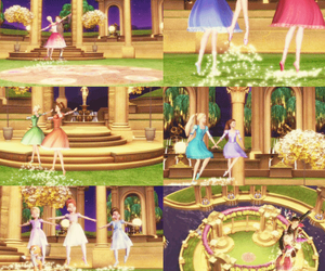 barbie, barbie movie, and 12 dancing princesses image