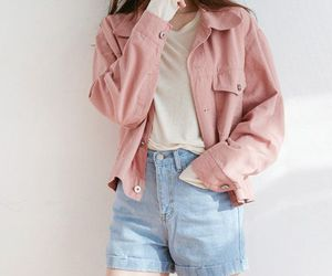korean, pink, and outfit image