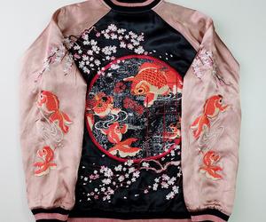 beautiful, sakura, and salmon image