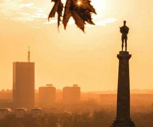 Belgrade, sunset, and kalemegdan image