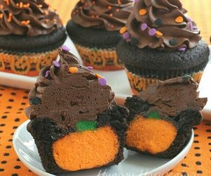 cupcake, Halloween, and autumn image