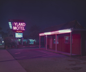neon, motel, and pink image