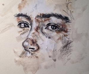 art, girl, and portrait image