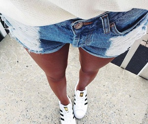 adidas, trainers, and denim image