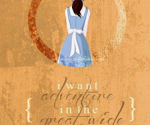 belle, disney, and adventure image