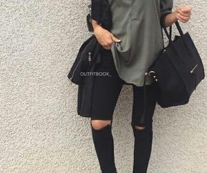 khaki, black+, and style+ image
