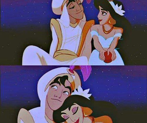 disney, love, and aladdin image