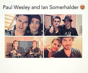 ian somerhalder and paul wesley image