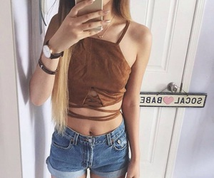 clothes, girl, and hairs image