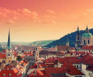 city, prague, and photography image