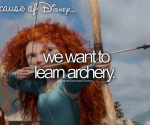 brave, archery, and disney image
