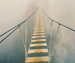 bridge, fog, and nature image