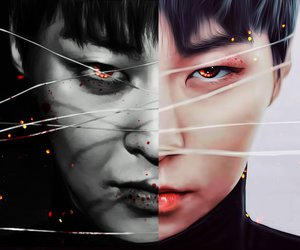 xiumin, angel, and Devil image