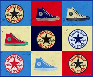 converse, pop art, and sneakers image