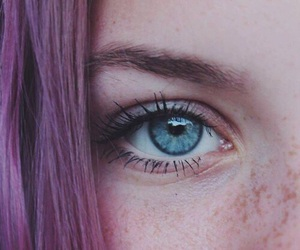 blue eyes and purple hair image