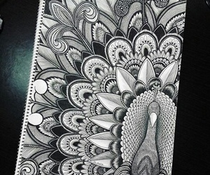 black and white and drawing image