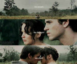 katniss everdeen, tgh, and gale hawthorne image