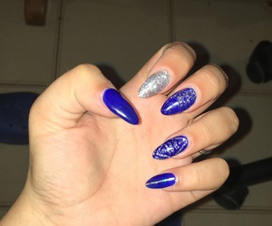 blue, nails, and gelnails image