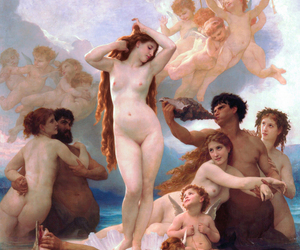 the birth of venus and William Adolphe Bouguereau image