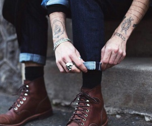 mens, style, and tattos image