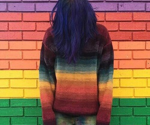 boy, colors, and girl image