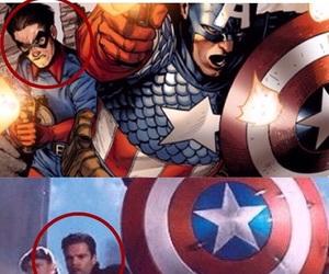captain america, sebastian stan, and bucky barnes image