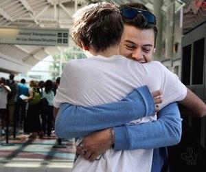 couple, gay, and hug image