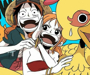 one piece, ñami, and luffy image