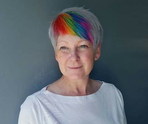 awesome hair, old, and rainbow image