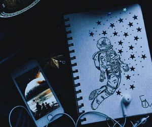 drawing, art, and space image