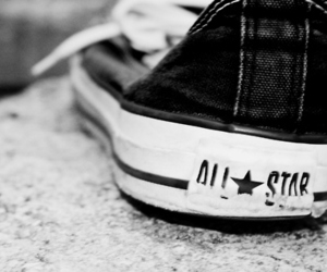 all star, shoes, and black image