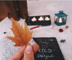 autumn, candels, and girls image