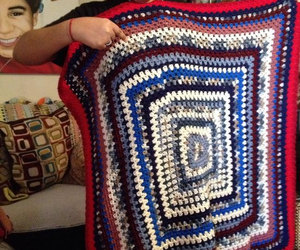 afghan, handmade, and couch throw image