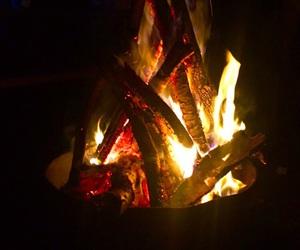 autumn, Hot, and bonfire image